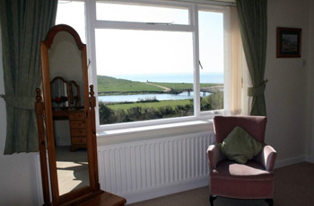 View of the sea from the en suite room